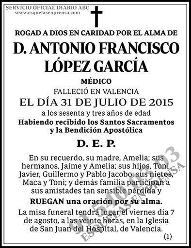 Antonio Francisco López García